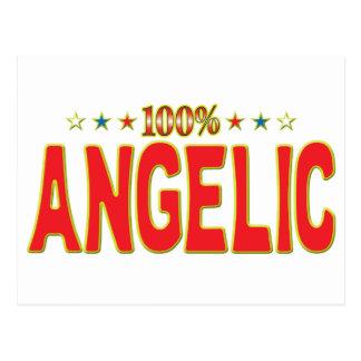 Etiqueta angelical de la estrella postales