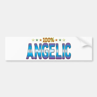 Etiqueta angelical v2 de la estrella etiqueta de parachoque