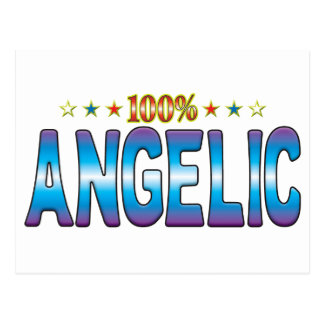 Etiqueta angelical v2 de la estrella postal