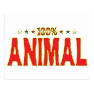 Etiqueta animal de la estrella postales