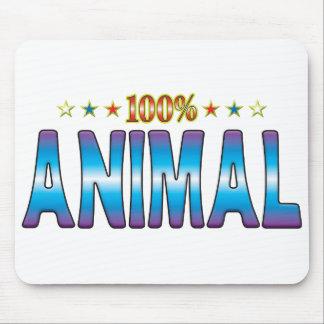 Etiqueta animal v2 de la estrella tapetes de ratón