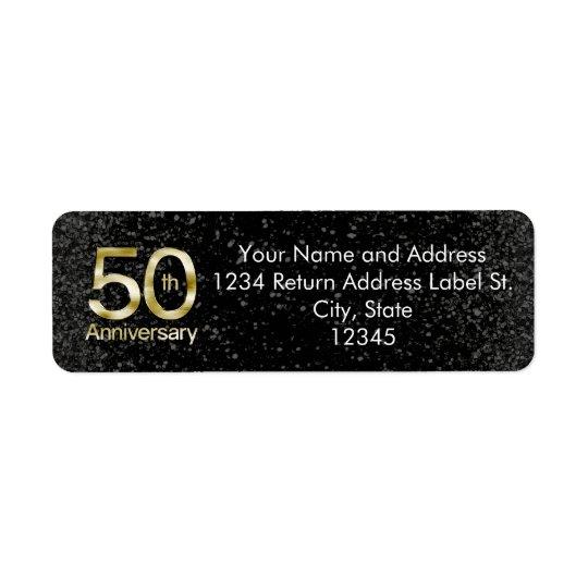 Etiqueta Aniversario atractivo del oro 50.o