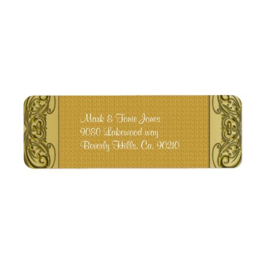 Etiqueta Aniversario de boda de oro de las volutas 50.as