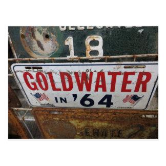 Etiqueta antigua de Goldwater Postal
