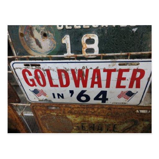 Etiqueta antigua de Goldwater Tarjeta Postal
