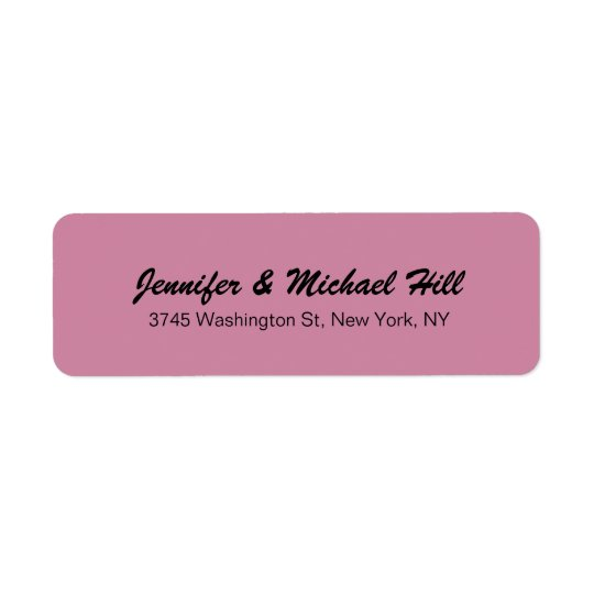 Etiqueta Apellido creativo único color de rosa polvoriento