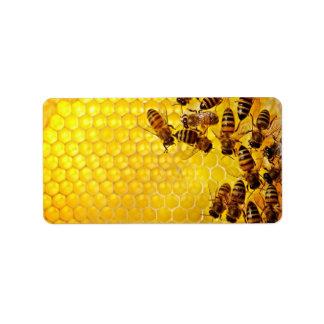 Etiqueta Apiarist del apicultor del vendedor de la miel de