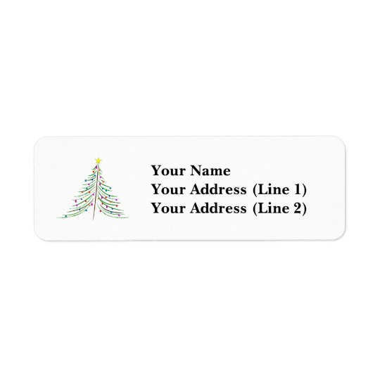 Etiqueta Árbol de navidad adornado