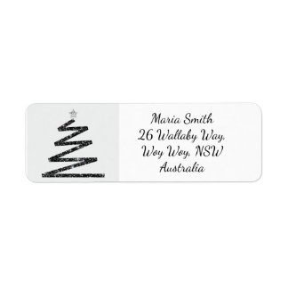 Etiqueta Árbol de navidad del brillo