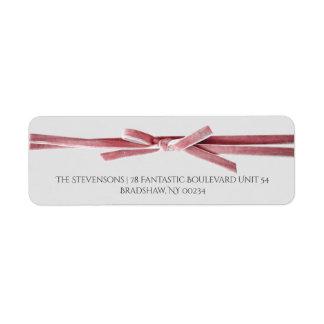 Etiqueta Arco moderno de la cinta del terciopelo de las