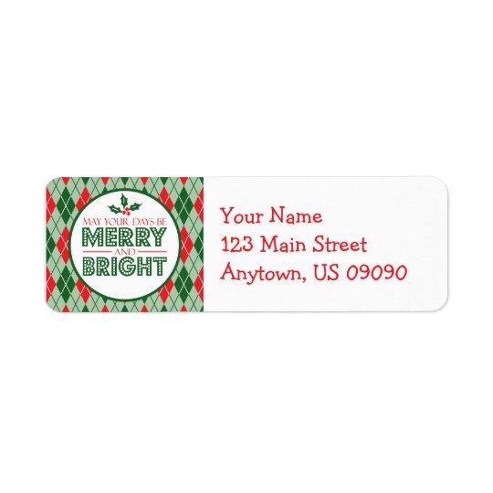 Etiqueta Argyle puede sus días ser Navidad Felices y