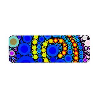 Etiqueta Arte pop colorido brillante del remolino de los