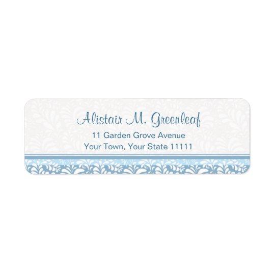 Etiqueta Artes verdes verde azulados elegantes y remite de