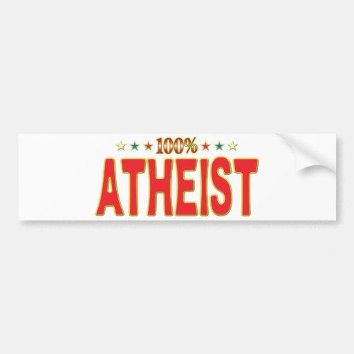 Etiqueta atea de la estrella etiqueta de parachoque