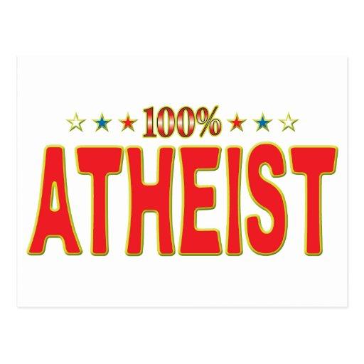 Etiqueta atea de la estrella postales