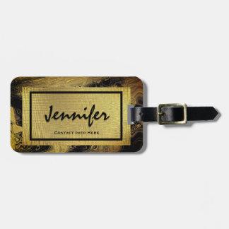 Etiqueta atractiva personalizada del equipaje del