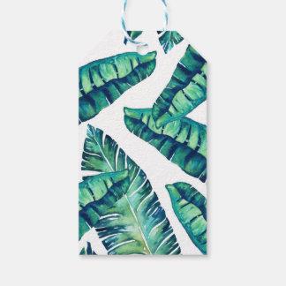 Etiqueta atractiva tropical del regalo