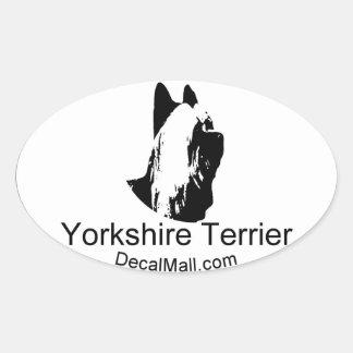 Etiqueta auto de la ventana de Yorkshirt Terrier