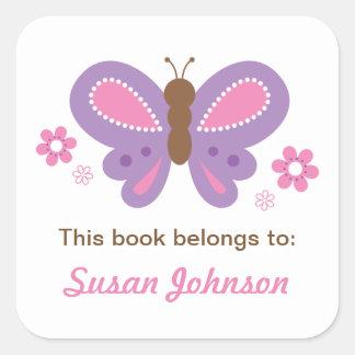 Etiqueta autoadhesiva conocida de la mariposa para