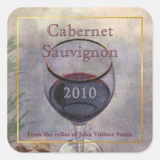 Etiqueta autoadhesiva de la botella de vino