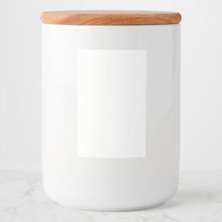 Etiqueta autoadhesiva del envase de comida