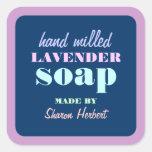 Etiqueta autoadhesiva hecha a mano retra del jabón
