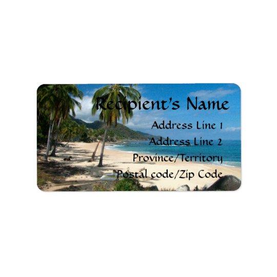 Etiqueta Azul de Playa Los Caballos