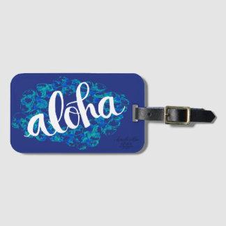 Etiqueta azul del equipaje de la hawaiana de