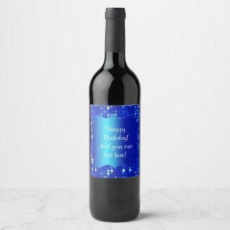 Etiqueta azul del vino de la mirada de la chispa