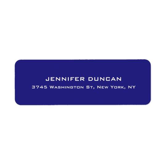 Etiqueta Azul profundo único lindo elegante moderno
