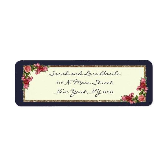Etiqueta Azules marinos de los rosas e invitaciones del
