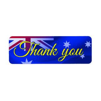 Etiqueta Bandera australiana