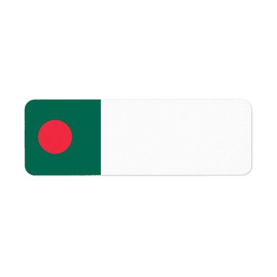 Etiqueta Bandera de Bangladesh