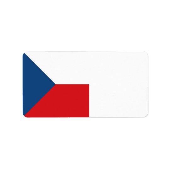 Etiqueta Bandera de la República Checa