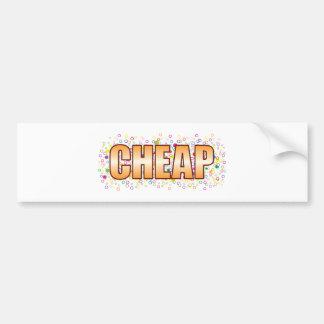 Etiqueta barata de la burbuja pegatina para coche