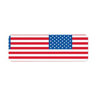 Etiqueta Barras y estrellas de la bandera de los E.E.U.U.