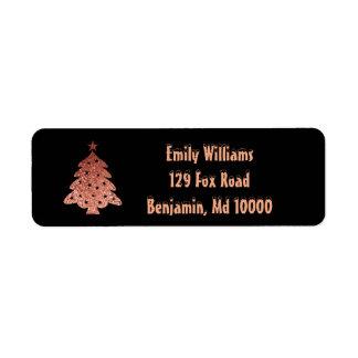 Etiqueta Belleza del árbol de navidad