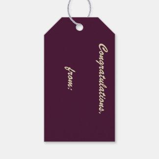 Etiqueta Berenjena-Coloreada profunda 10-Pack del Etiquetas Para Regalos