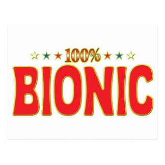 Etiqueta Bionic de la estrella Postales
