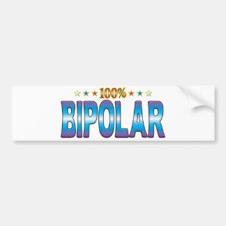 Etiqueta bipolar v2 de la estrella pegatina de parachoque