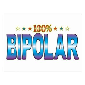 Etiqueta bipolar v2 de la estrella postal
