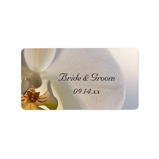Etiqueta blanca del favor del boda de la elegancia etiqueta de dirección