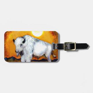 Etiqueta blanca occidental del equipaje del búfalo etiqueta para maleta
