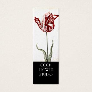 Etiqueta blanca roja del producto del florista del