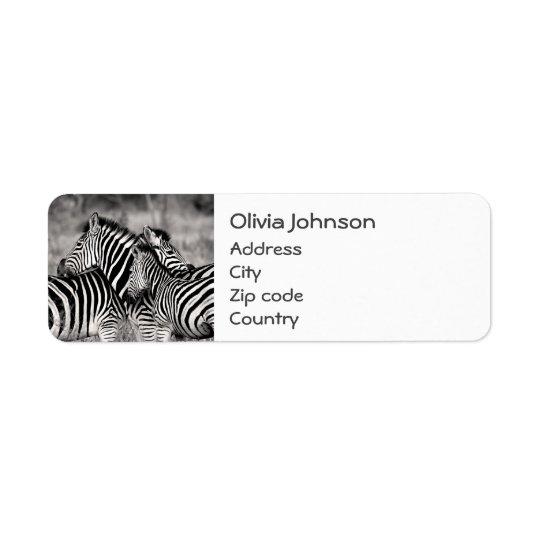 Etiqueta Blanco lindo del negro del safari de la naturaleza
