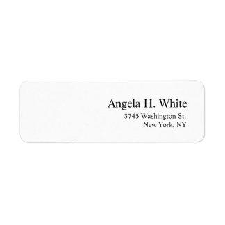 Etiqueta Blanco profesional moderno minimalista elegante