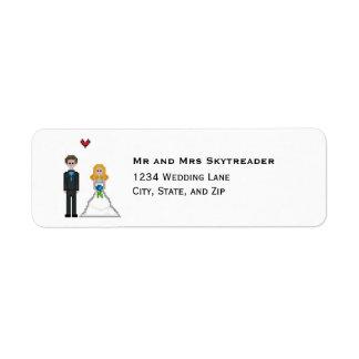 Etiqueta Boda rubio de la novia y del novio del