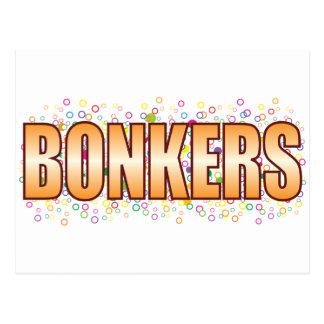Etiqueta Bonkers de la burbuja Postal