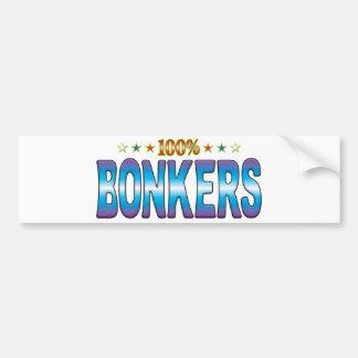 Etiqueta Bonkers v2 de la estrella Etiqueta De Parachoque