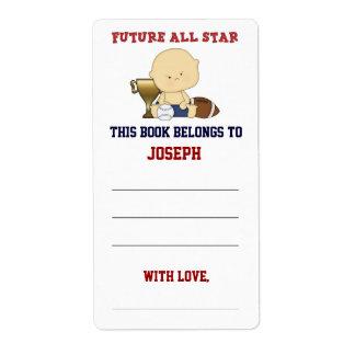 Etiqueta Bookplate futuro de la fiesta de bienvenida al beb